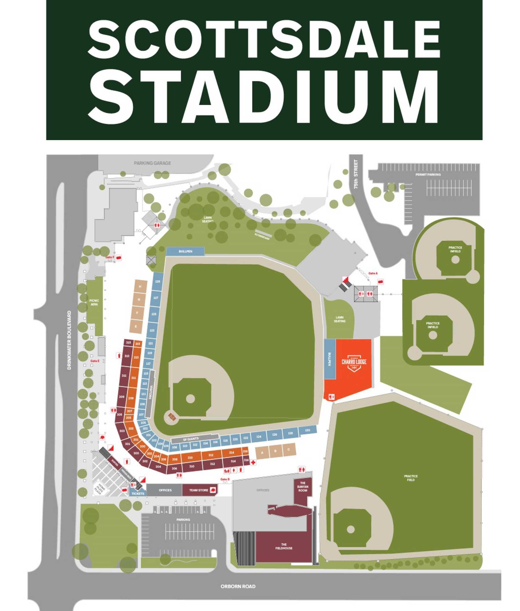 Scottsdale Stadium Map
